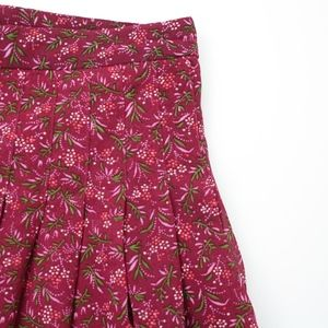 GAP Skirts - Gap 'Very Berry' Floral Pleated Skirt, Sz 2